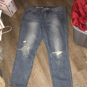 38 madewell ripped blue jean see size description